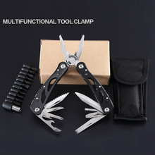 Outdoor Multi-function Hand Tool Pliers Repair Pocket Knife Folding Screwdriver Set Camping Hiking Walking Multi-tool
