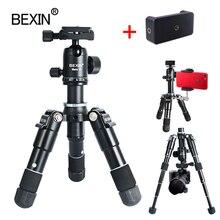 Viagem portátil flexível câmera leve desktop Tabletop mini bola cabeça tripé suporte do telefone montar titular para a câmera slr DSLR