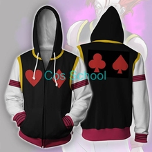Hisoka Cosplay Hoodies Hunter-X-Hunter School Women Sweatshirt Coats