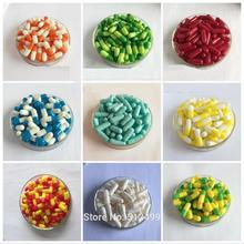 0# 200pcs/lot.0 size High quality colored hard gelatin empty capsules, hollow gelatin capsules ,joined or separated capsules