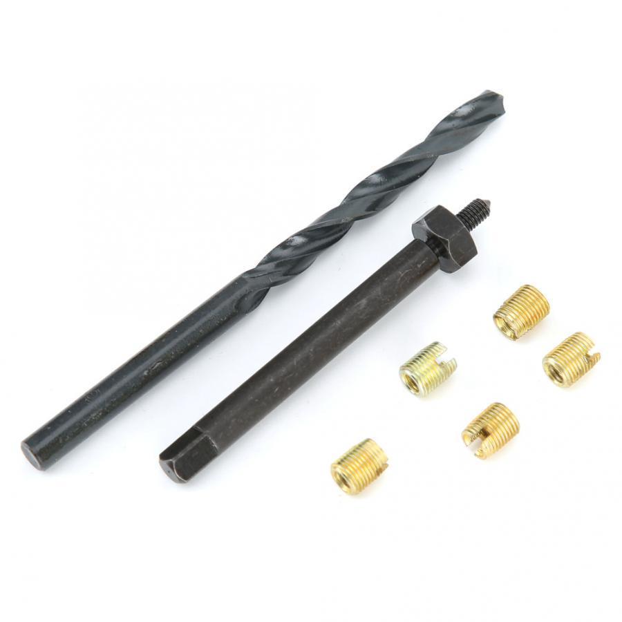 12PCS M3 x 0.5 Thread Repair Kit Self Tapping Thread Inserts Tool Set Fasteners for Woodworking Repair Tools Twist Drill Bit