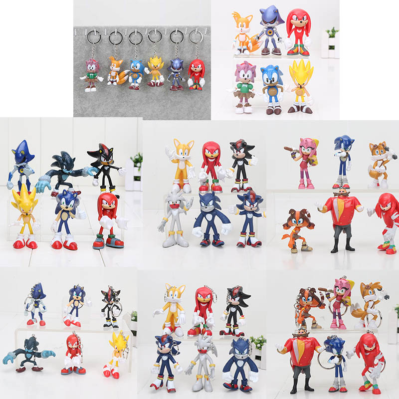 6pcs Set Sonic Figures Toy Sonic The Hedgehog Shadow Tails Characters Pvc Figure Model Toys Kids 5 11cm Action Toy Figures Aliexpress