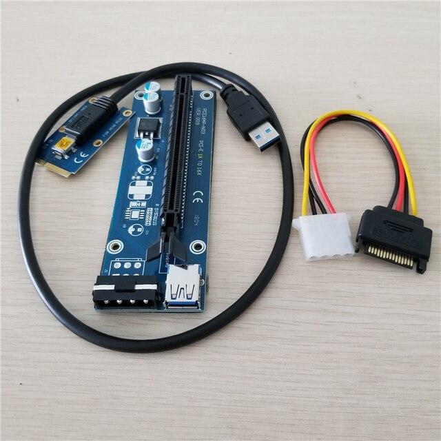 Mini PCIe إلى PCI e 16X الناهض SATA إلى IDE موليكس الطاقة USB 3.0 كابل لأجهزة الكمبيوتر المحمول بطاقة الفيديو الخارجية EXP GDC جهاز تعدين بيتكوين 60 سنتيمتر