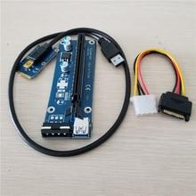 Mini PCIe to PCI e 16X Riser SATA to IDE Molex Power USB 3.0 Cable for Laptop External Video Card EXP GDC Bitcoin Miner 60cm