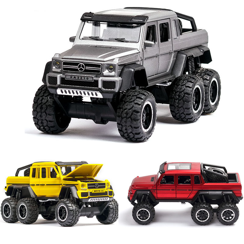 1:32 Mercedes Benz G63 Pickup Car Model Metal Car Die-cast Alloy Car Children Toys Gift Collectibles Free Shipping