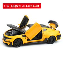 1:32 Chevrolet Camaro Sports Car Alloy Diecast Model Car Toy 5 Color Pull Back Flashing for Kid Birthday Christmas Gifts Boy Toy 1 24 luxury car model giulia alloy car static model sports car collector s edition model color box package boy toys gifts