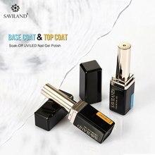 Saviland New Lipstick Bottle Portable Base and Top Coat Long Lasting Nail Gel Varnish  Transparent Art Lacquer