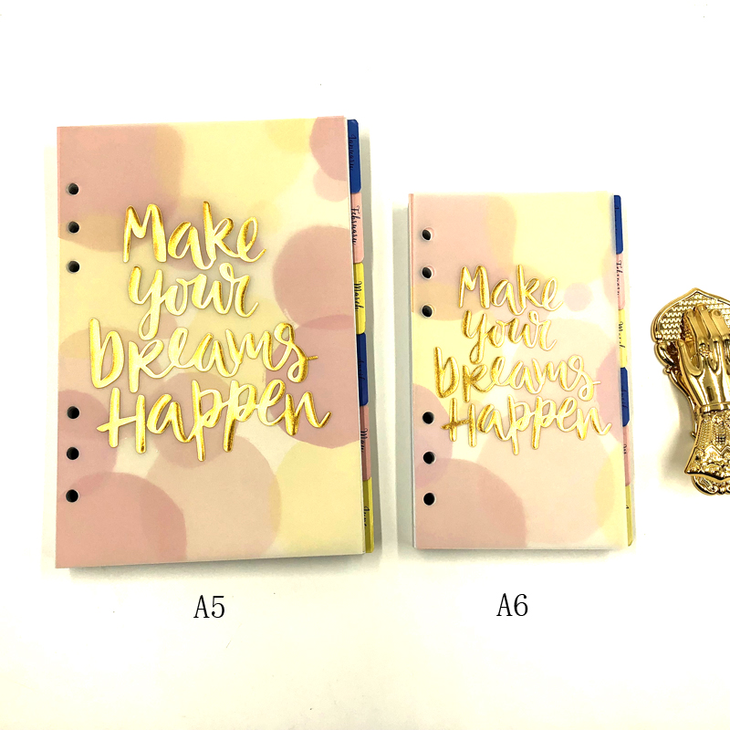 Fromthenon Cute Summer 6 Holes Loose Leaf Notebook Refill Filler Paper For Dokibook Planner Book Inner Core With 2019 Calendar