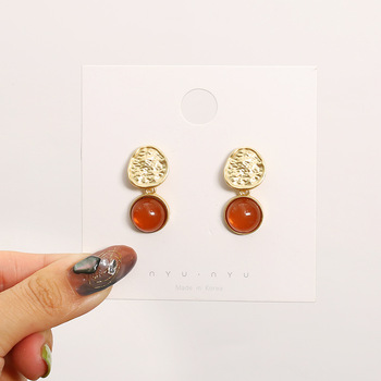 Han Edition Retro Wafer Stud earrings Simple Geometrical Irregular Earrings Fashion Dangling Eardrop Wedding Jewelry Gifts image