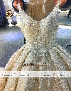 Image 5 - 2020 יוקרה ואגלי חתונת שמלת רצועות אמיתי עבודה סדר מותאם אישית