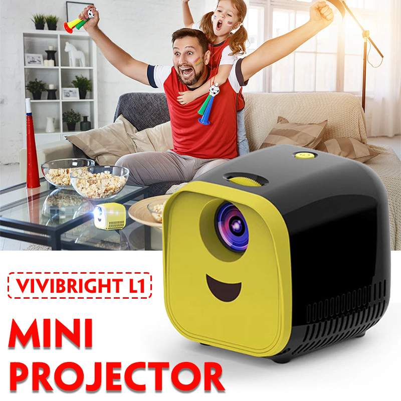 Home Theater Projectors Media-Player Portable Children Mini Lumens 1000 Full-Hd1080p title=