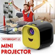 1000 Lumens L1 Original Mini Projector Support Full HD1080P Portable Home Theate