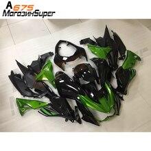 Para kawasaki z800 2013   2016 13 14 15 16 personalizado gloss preto verde novo completo de alta qualidade abs injeção plásticos carenagens kit