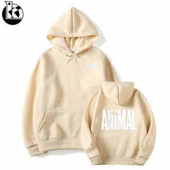 Explosion Ideas Animal Letters Men Hoodie 2019 Spring Autumn Sweatshirt Strap Up Hoodie Men Tracksuits Harajuku Hoody