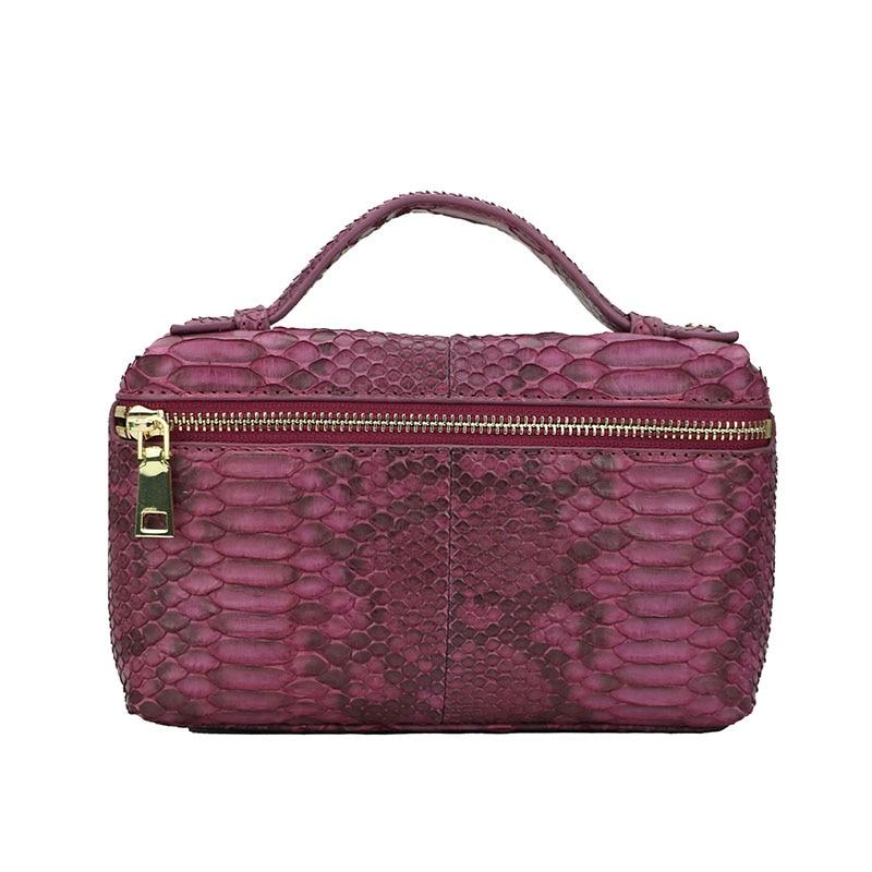 Модная дизайнерская сумка из натуральной кожи питона, кожаная сумка клатч, переносная сумка из натуральной кожи питона, дамская сумочка