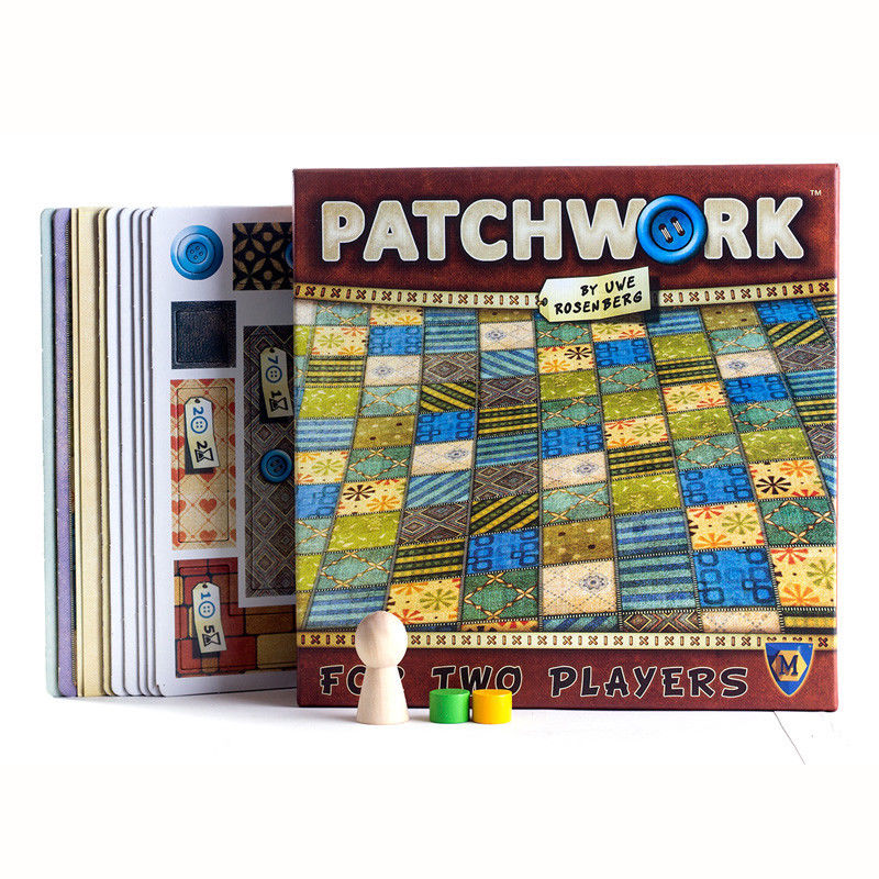 New Patchwork Board Game For Two Players Funny Party Games Paper Cards Chinese/English Version