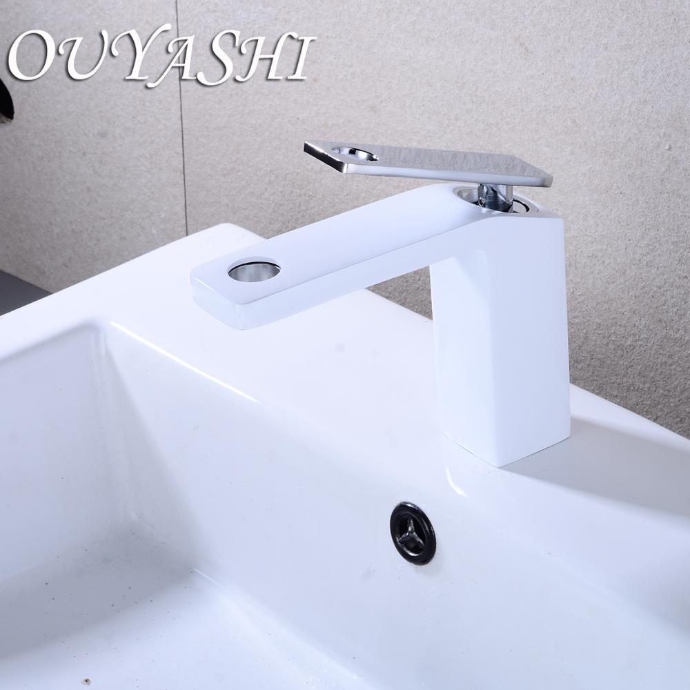 OUYASHI bathroom basin faucet water tap modern deck mounted