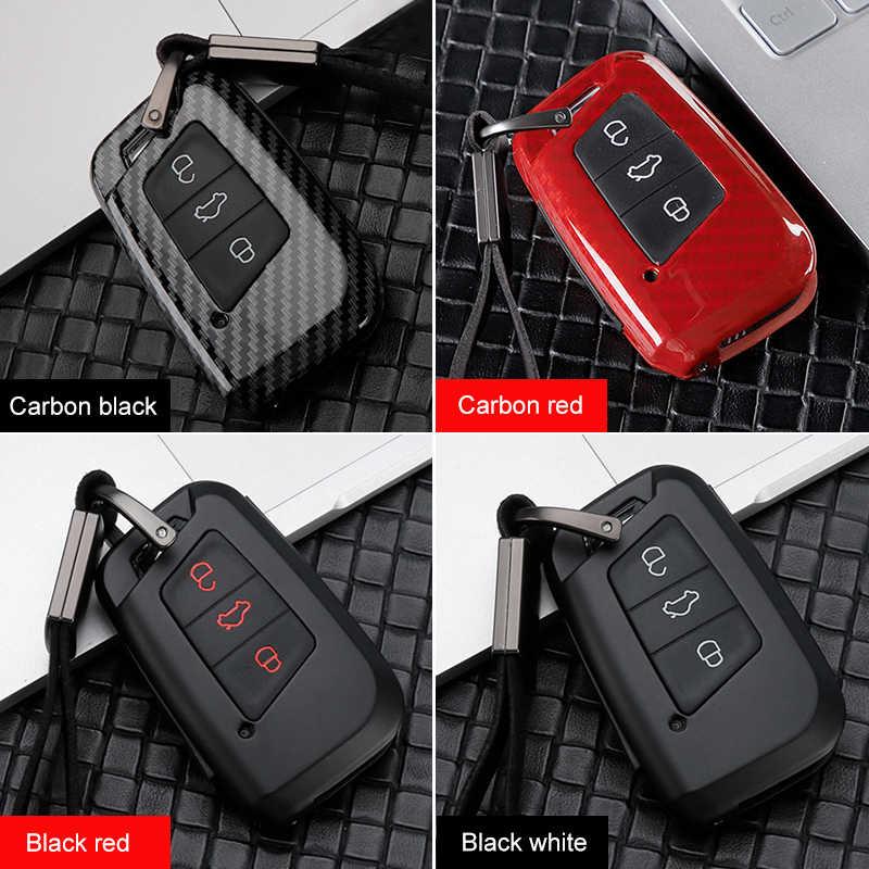 Zink legierung + Silicon Auto Schlüssel Abdeckung Fall Für Skoda Superb A7 Für Volkswagen VW Tiguan MK2 Magotan Passat B8 CC Golf Gte Accessorises