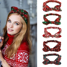 Christmas Headband Snowflake Grid Hairband Girls Xmas Gift Christmas Decoration For Home