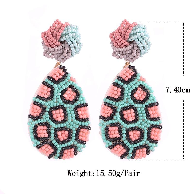Earrings for women boho drop earrings red Size