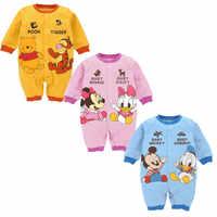 Mickey bebê macacão roupas do menino minnie bebê meninas roupas disney crianças roupas nova moda infantil macacão roupas bebes