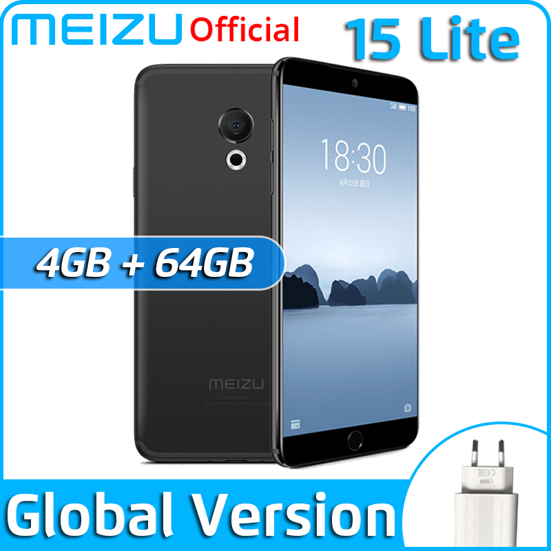 "Global Version Meizu 15 Lite 4GB 32GB 64GB smartphone Snapdragon 626 5.46"" 1920x1080P 3000mAh Battery Fingerprint"