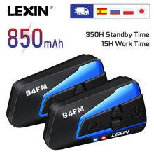 Lexin-auriculares B4 para casco de motocicleta, intercomunicador inalámbrico con Bluetooth, hasta 4 conductores, a prueba de agua, 1600M, 2 uds.