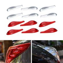6pcs/set Car Spoiler 3D Taillight Headlamps Adhesive AUTO Airflow Accessories