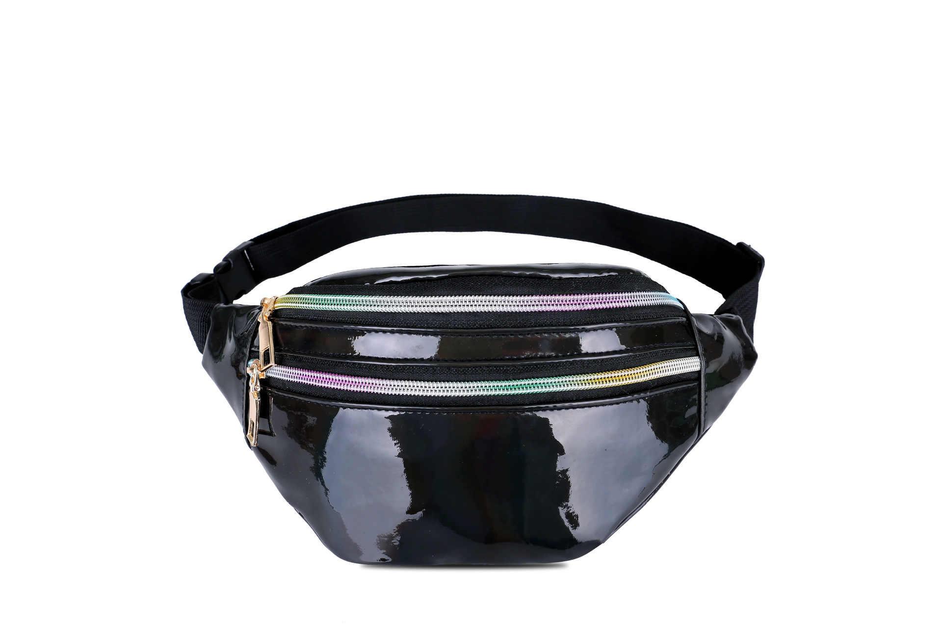 Baru Pria dan Wanita Laser Pinggang Fashion Terang Dada Tas Multi Fungsi Warna Bahu Crossbody Tas Olahraga Luar Ruangan pinggang Pack