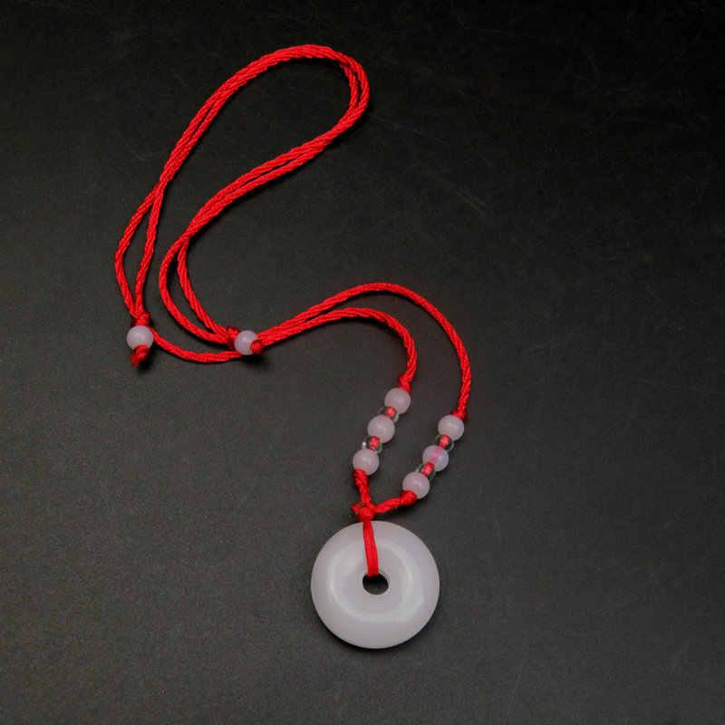 Scenic Spot Stall Hot-ขายเครื่องประดับชายและหญิงแก้วเลียนแบบจี้คริสตัลจี้สีแดงเชือกสร้อยคอ Event ของขวัญ