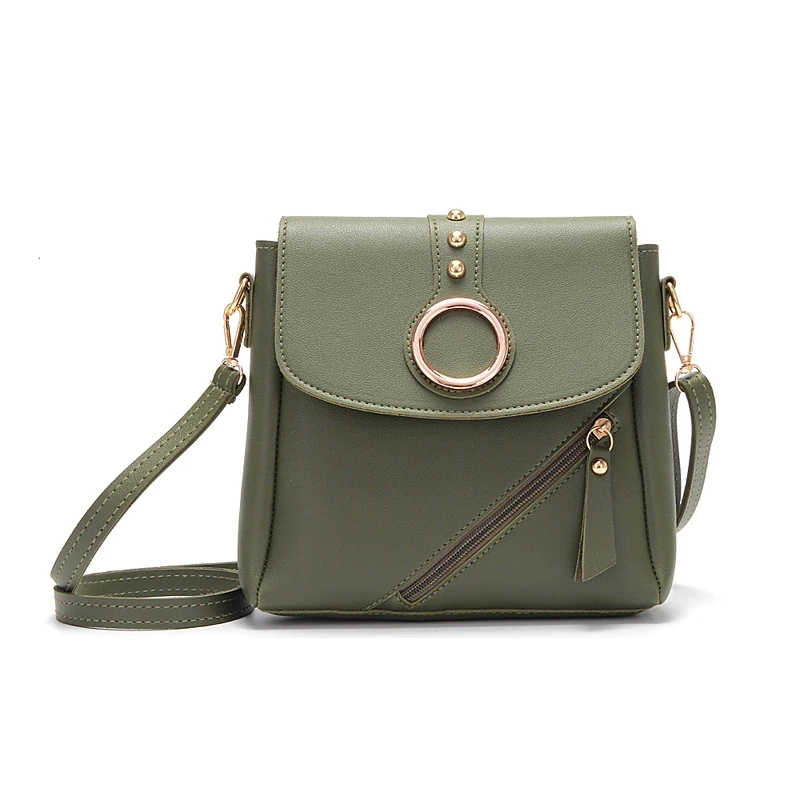 Women Buckle Messenger Bags 2019 Pu Leather Sling Shoulder Bag Female Travel  Casual Crossbody Handbags For Ladies Teenage Girls