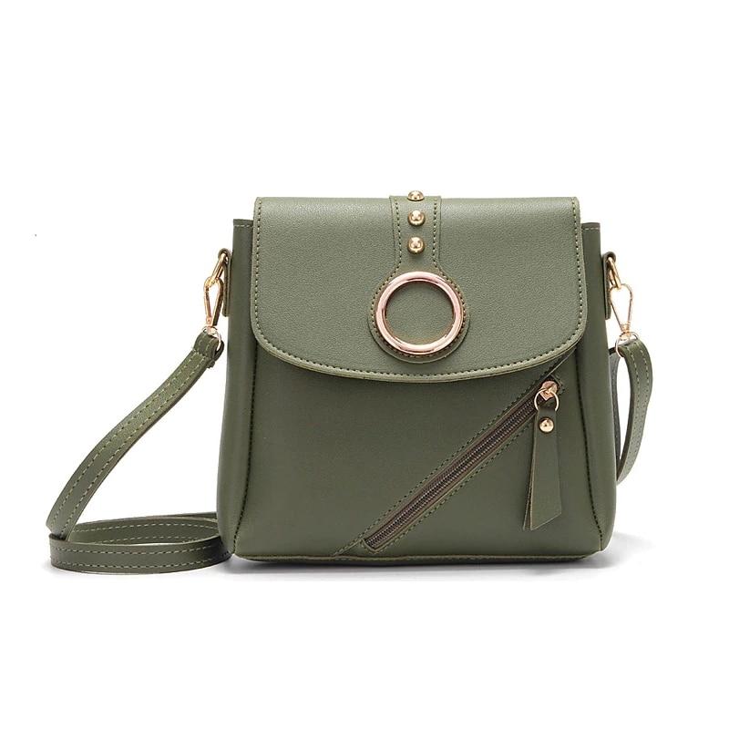 Women Buckle Messenger Bags 2019 Pu Leather Sling Shoulder Bag Female Travel  Casual Crossbody Handbags For Ladies Teenage Girls