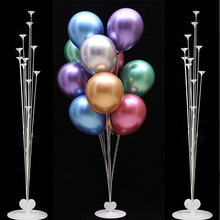 2019 Fashion 11 Tubes Balloon Column Stand Kids Birthday Party Decoration For Baby Shower Wedding Balloons Stick Supplies