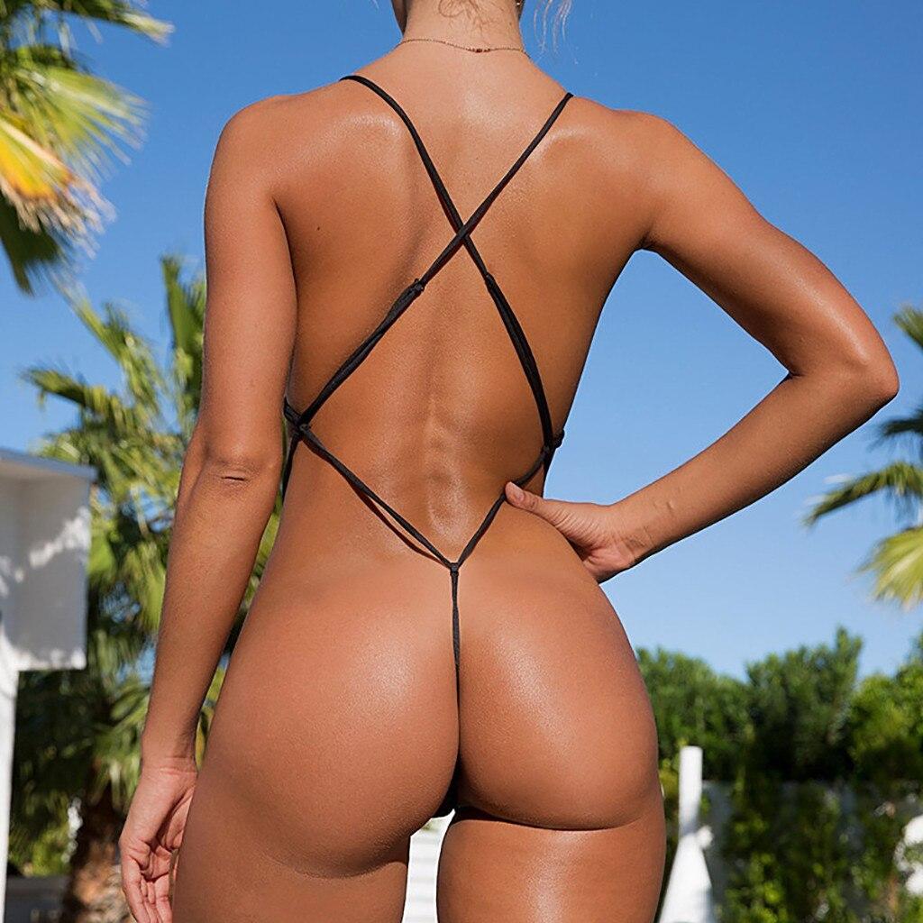 266.36руб. 22% СКИДКА|Сексуальный комплект бикини с открытой спиной, женский купальник, бандаж, пуш ап, бикини, бразильский мини купальник, купальный костюм, бикини боди|Комбинезоны| |  - AliExpress