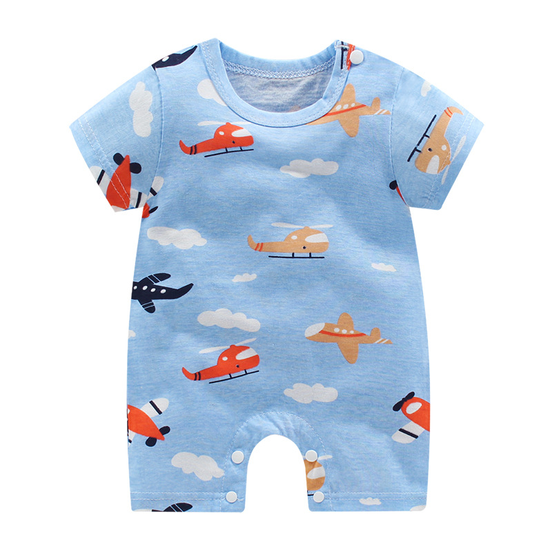 2020 Summer Baby Clothes Short Sleeved  Baby Romper Cotton Newborn Body Suit Baby Pajama Boys Animal Little Bear Rompers