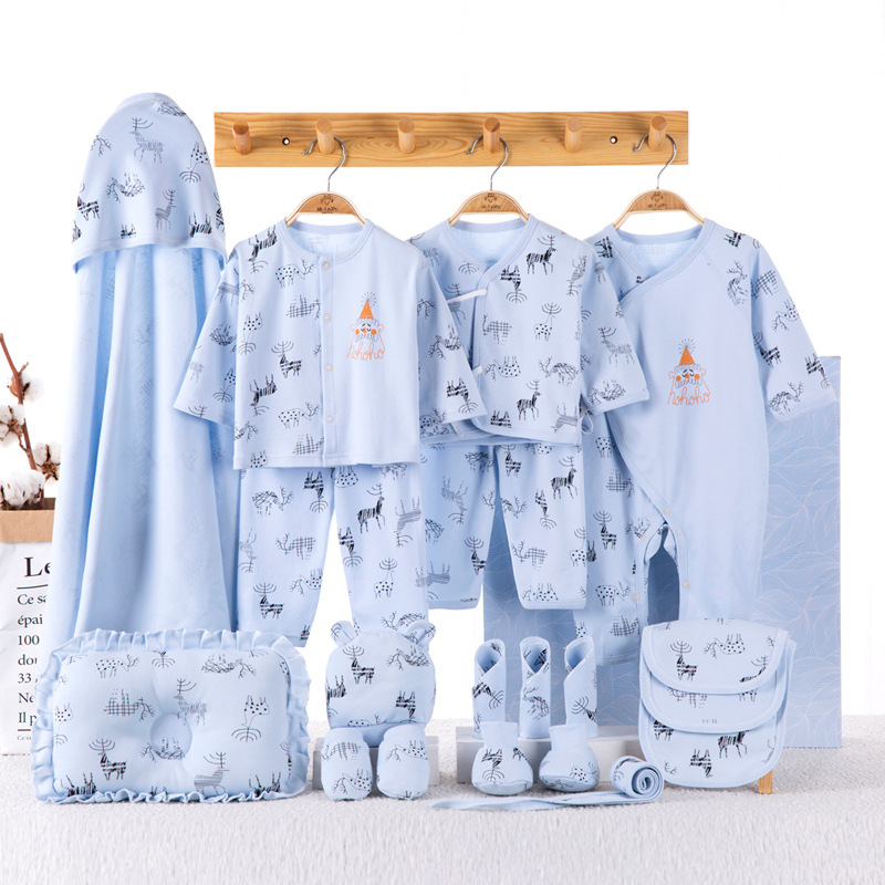 Pure Cotton Clothes For Babies Spring Newborns Gift Box Baby Girls Set Spring And Autumn Primary Newborn BABY'S FIRST Month Gift