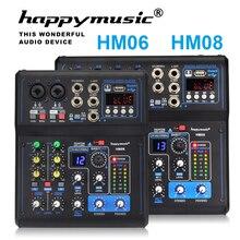 전문 믹서 HM 시리즈 6 채널 8 채널 USB 사운드 카드 16 DSP 사운드 콘솔 장비 DJ 믹서 USB 사운드 카드