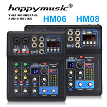 Professional Mixer HM Series 6 ช่อง 8 ช่อง USB Sound Card 16 DSP เสียงคอนโซลอุปกรณ์ DJ Mixer USB เสียงการ์ด