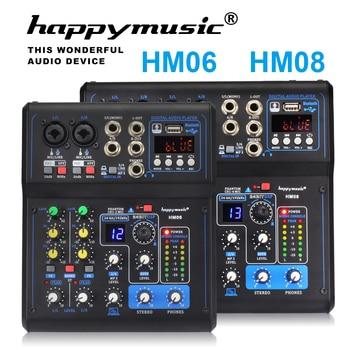 Professional Mixer HM Series 6 Channels 8 Channels USB Sound Card 16 DSP Sound Console Equipment DJ Mixer USB Sound Card