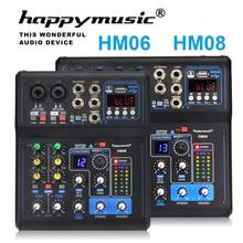 Profesyonel mikser HM serisi 6 kanal 8 kanal USB ses kartı 16 DSP ses konsolu ekipmanı DJ mikseri USB ses kartı