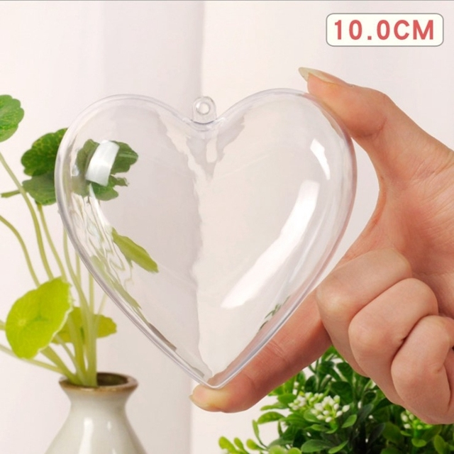 5Pcs/Set Clear Plastic Bath Bomb Mold Mould Round Heart Egg Shape Ball Sphere Bath Bomb Accessories Fillable Ball DIY Bath Tool 5