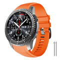 Совместимый с Samsung Gear S3 Frontier Bands мягкий силиконовый ремешок для замены часов Gear S3/Galaxy Watch 46 мм Smartwatches