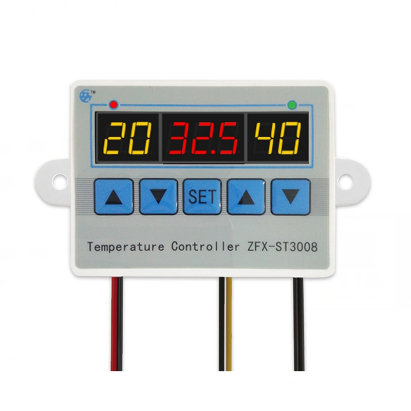 ZFX-ST3008 Microcomputer Digital Display Temperature Controller Thermostat Intelligent Time Controller Adjustable Electronic Tem