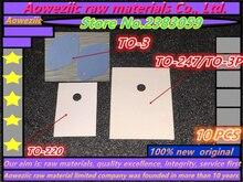 10 pcs 트랜지스터 절연 패드 to 220 to 247 TO 3P to 3 (트랜지스터 전문 재료)