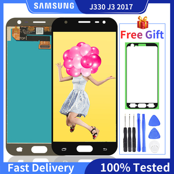 100% Original Super AMOLED LCD For Samsung Galaxy J3 2017 J330 Display J330FN SM-J330FN J330DS Touch Screen Digitizer Assembly for samsung galaxy j3 2017 j330 lcd display touch screen digitizer replacement for samsung j330f sm j330f phone parts freetools