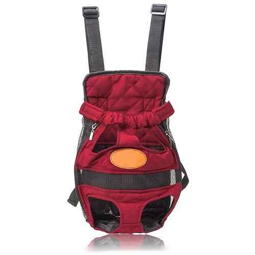 Adjustable Breathable Dog Puppy Head Legs Out Carrier Canvas Backpack Outdoor Travel Bag Dog Carriers & Bags