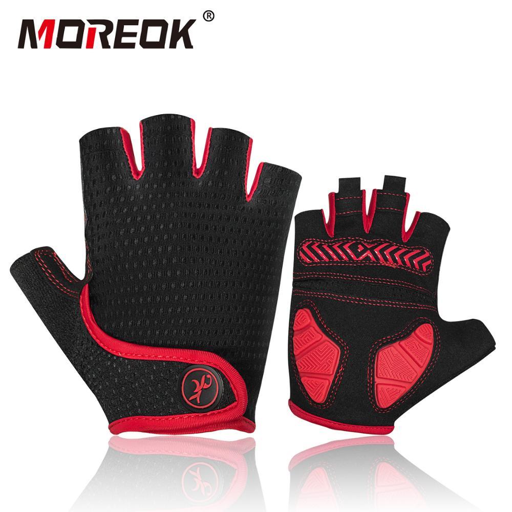 Moreok MTB Summer Cycling Half Finger Gloves Bike Short Shockproof GEL Gloves US