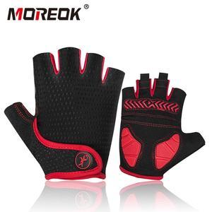 Image 1 - Противоударные велосипедные перчатки MOREOK, MTB велосипедные перчатки, дышащие велосипедные перчатки для езды на велосипеде, Нескользящие велосипедные перчатки для мужчин