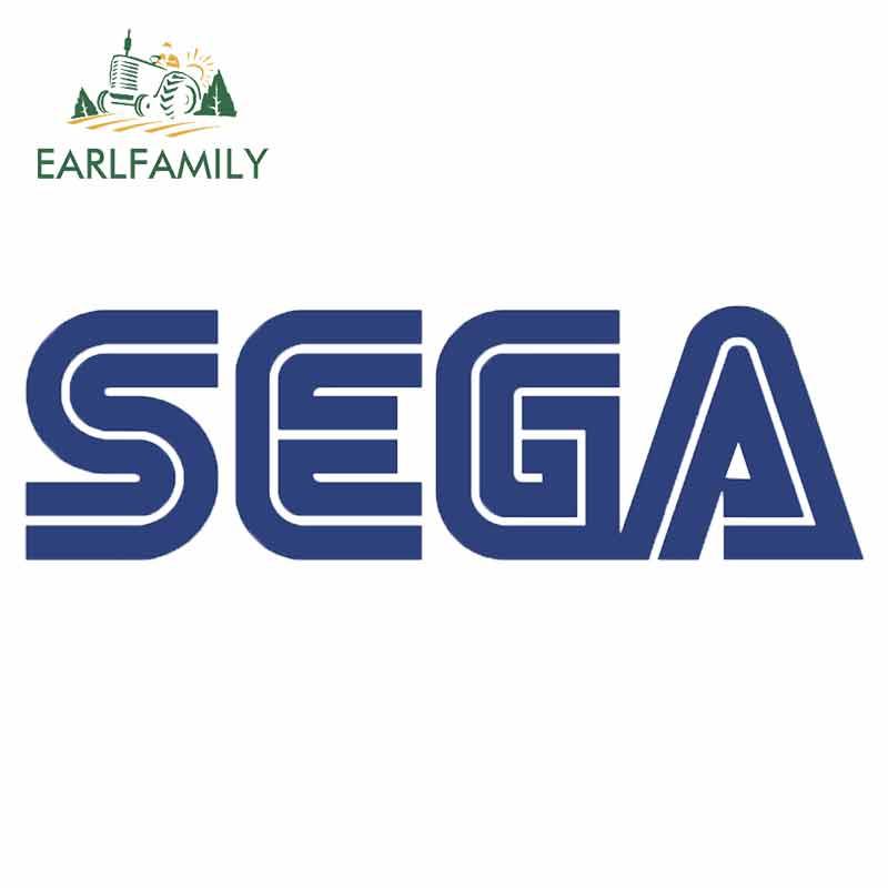 EARLFAMILY 13cm X 3.1cm Car Sticker For SEGA Letter Waterproof Vinyl Decals Bumper Laptop Trunk Creative Car Wrap