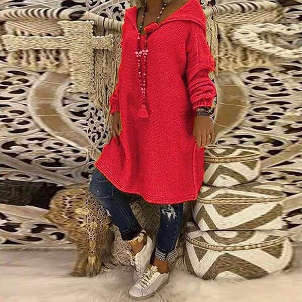 Jaycosin Vintage T-shirt Vrouwen O-hals Hooded Breien Lange Mouw Tops Tee Shirt Femme T-shirt Homme Streetwear Blusas Femininas